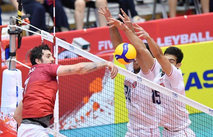 رویارویی والیبال ایران و کانادا؛ تمرین در لیگ ملتها نبرد در المپیک