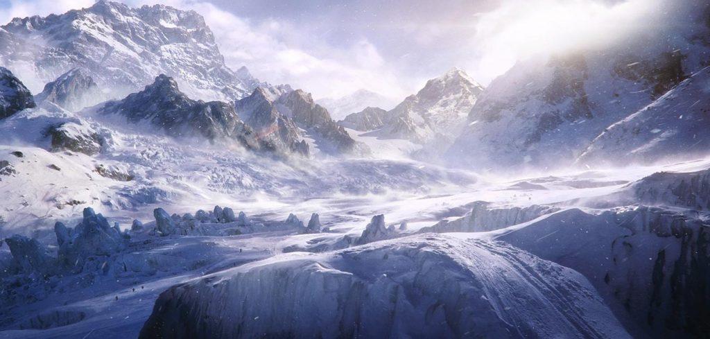 سونا در وسط قله های برف گیر/تصویر