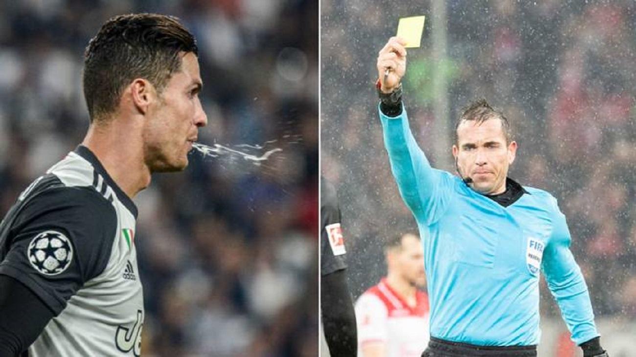 پیشنهاد کارت زرد برای تف در کردن در زمین فوتبال