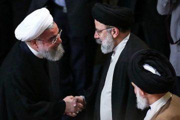 روحانی برای تبریک پیروزی رییسی، به دیدار او رفت
