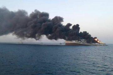 بزرگترین ناو نظامی ایران غرق شد